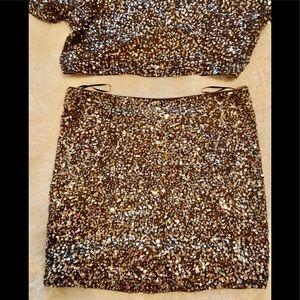 Vince sequin skirt